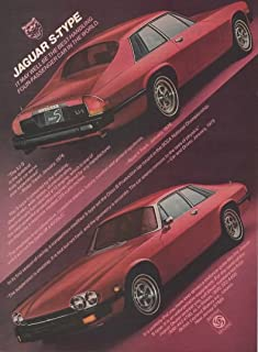 Vintage Magazine Print Ad: 1977 Red Jaguar XJ-S Type, 2 Door Coupe Luxury Motorcar V12