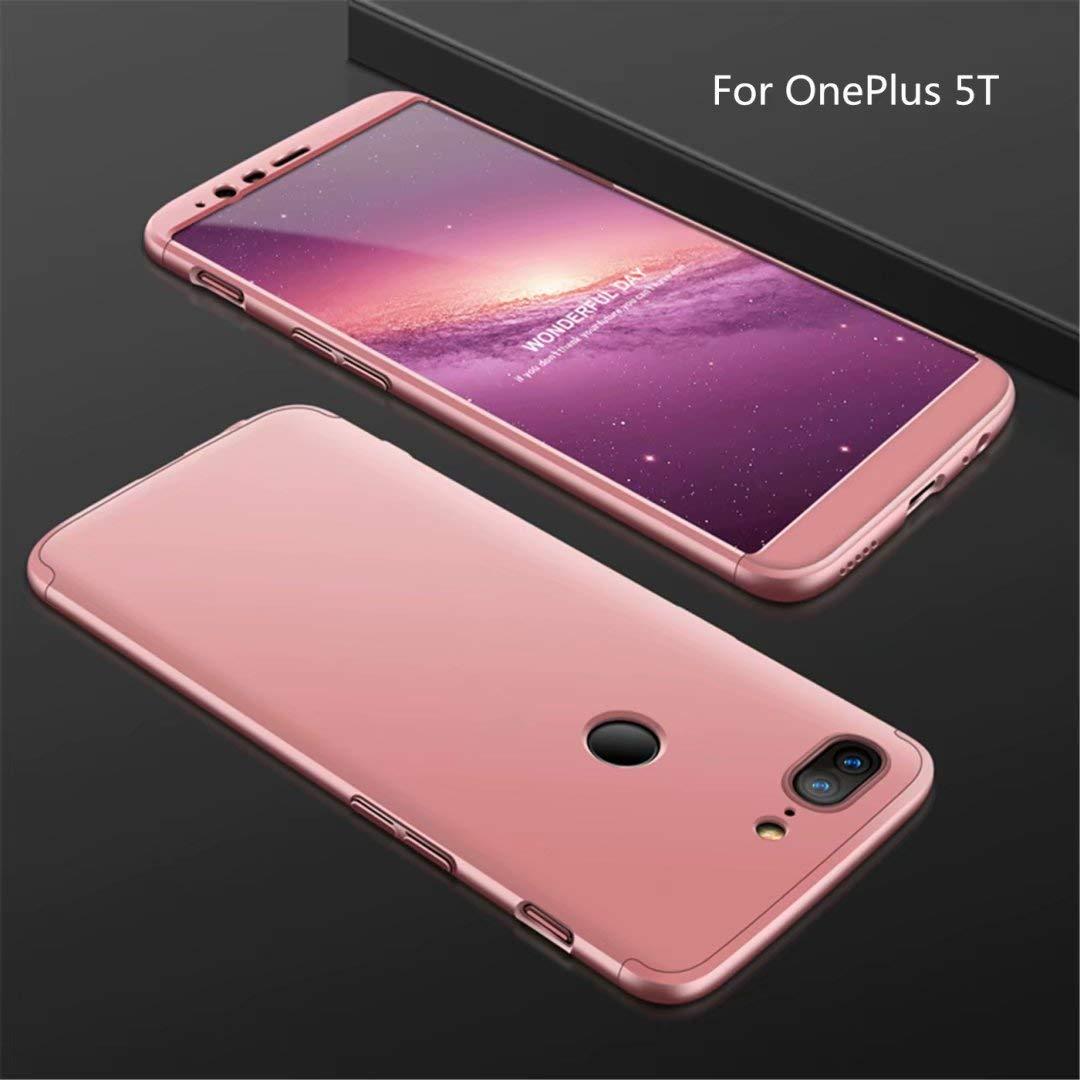 Funda OnePlus 5T 360 Grados Oro Rosa Ultra Delgado Todo Incluido ...