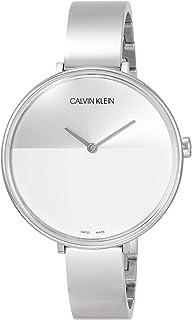 Calvin Klein Rise Quartz Silver and White Dial Ladies Watch K7A23146