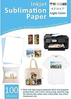 Sublimation Paper Heat Transer Paper 100 Sheets 8.3