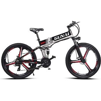GUNAI Bicicleta Eléctrica 26 Pulgadas Plegable Bicicleta de ...
