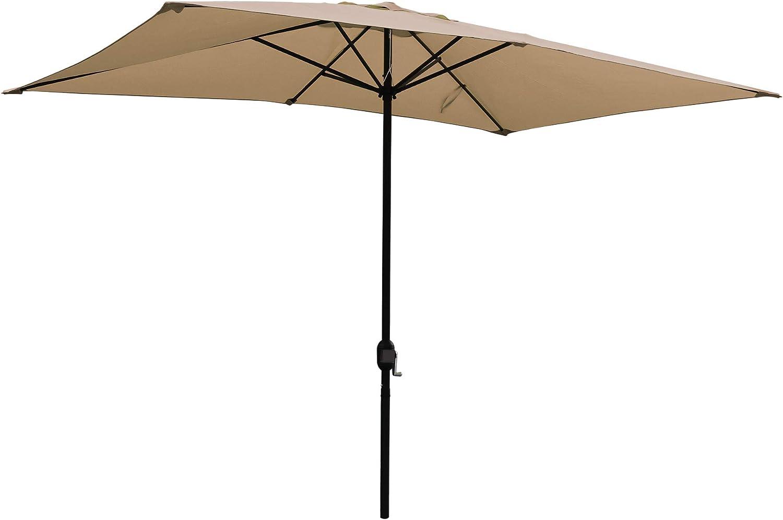 ABBLE Outdoor Patio Umbrella Washington Mall 10 Ft Dedication x with 6.5 Cra Rectangular