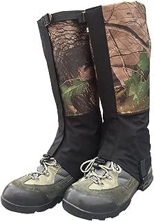 m/ás Durable a Prueba de Viento Impermeable de la Cubierta Zapatos Calidez, Weanas Unisex Aire Libre para Adultos monta/ña de Nieve Legging Polainas Nueva Negro, L