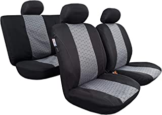 Breathable Front Auto Protectors Airbag seakomoto Purple Jacquard Seat Cover Universal Fit Cars Trucks SUV Set of 4