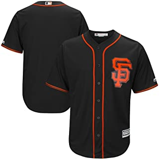VF San Francisco Giants MLB Mens Majestic Cool Base Replica Jersey Black Big & Tall Sizes