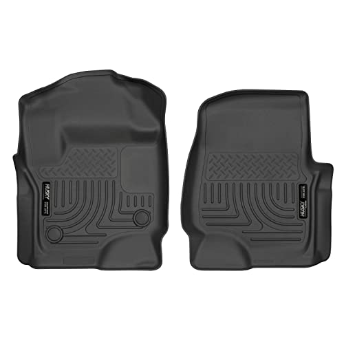 Husky Liners Fits 2017-19 Ford F-250/F-350 Crew Cab/SuperCab with factory carpet Weatherbeater Front Floor Mats