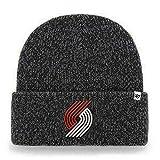 '47 NBA Brain Freeze Cuffed Knit Beanie Winter Hat, Adult (Portland Trail Blazers Black)