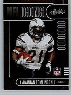 2019 Absolute NFL Icons Football #15 LaDainian Tomlinson San Diego Chargers Official NFL Trading Card From Panini America