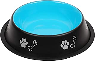 Naaz Anti Skid Colored Dog Bowls Large Size for Pets Bowl to Feed Water and Food (900 ML) Blue Color