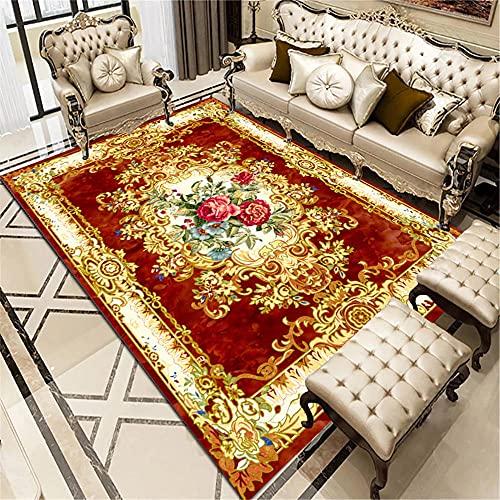 WCCCW Tavolino da caffè colorato e colorato Modello Combinato Facile da Pulire tavolino da tavolino da caffè-80x120 cm. Grandi Dimensioni Salotto Moderno tappeti