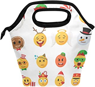 ATTX Christmas Emoticons Lunch Box for Girls Boys Kids Large School