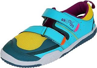 skoodo Angler Alpha Kid's Sports Shoes - Sunshine Yellow and Teal (Material-Mesh & PU)