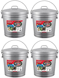 Behrens 6106 6-Gallon Locking Lid Can (4 Pack)