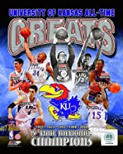 Kansas Jayhawks All Time Greats - 5X National Champions Composite Photo 8x10