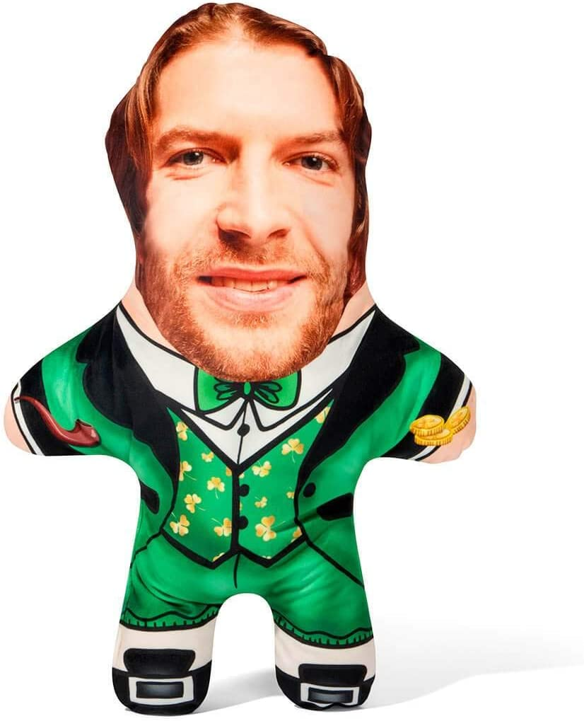 New product! New type Snugzy Personalized Complete Free Shipping Leprechaun Mini Me Pillows Face wit Custom