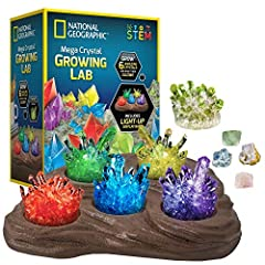 FAST GROWING CRYSTALS IN 6 COLORS - Red, green, blue, purple, yellow, and glow in the dark; crystal chemistry has never been so fast (grows in 3 - 4 days), fun, and colorful! The perfect educational gift for boys and girls GROWING IS EASY – Easy-to-f...