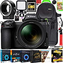 Nikon Z6II Mirrorless Camera Body + NIKKOR Z 24-70mm f/4 S Lens Kit 1663 FX-Format Full-Frame 4K UHD Bundle with FTZ Mount Adapter + Deco Gear Backpack Case + LED + 64GB CFexpress Card & Accessories