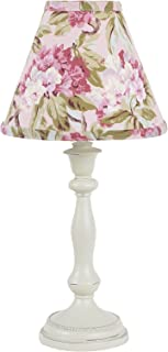 Cotton Tale Designs Tea Party Antique Lamp with Multi Colored Pink, Blue, Yellow Floral Paisley Fabric Shade &Trim, Uno Fitting (Shade Only)