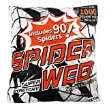 Kidtion 1000 sqft Halloween Spider Web with 90 Extra Fake Spiders– Designed for Halloween Decorations or as Party Favors, Super Stretchy Giant Cobwebs Decoration, Spider Webbing for Indoor/Outdoor 9.8oz