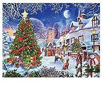 5Dダイヤモンド絵画絵画クリスマスギフトフルアングルダイヤモンドダイヤモンドモザイク冬のクロスステッチDIYフルセット家の装飾30x40cm