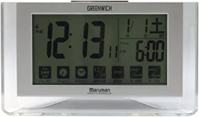 GREENWICH 目覚まし時計 電波時計 タッチパネル操作 MJA348SL