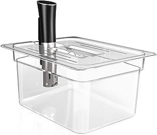 Sandoo Sous Vide Container 12 Quart with Lid-Sous Vide Accessories Kit with Lid for Most Sous Vide Cookers, Long Service L...