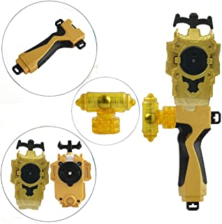 StormGyro Battling Battle String Launcher and Launcher Grip with Weight Damper Set(Gold)