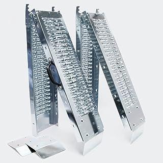 WilTec 2X Rampa Carga Descarga 400 kg Moto Acero galvanizado Plegable 160x22,5cm