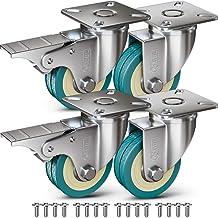 GBL® 4 Zwenkwielen 50mm + Schroeven | Zwaarlastwielen 200KG - Zwenkwielen Voor Meubels | Zwenkwieltjes voor een Trolley - ...