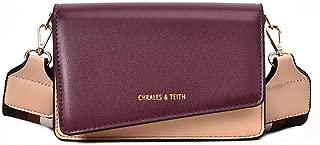 Bags Shoulder Bag Messenger Bag Handbag Wide Shoulder Strap Handbag Shoulder Bag for Women (Color : Purple)