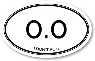 I Don't Run Zero Miles Sticker Funny Running Quotes Stickers - Laptop Stickers - 2.5