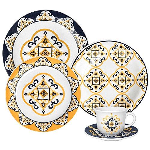 Aparelho de Jantar e Chá com 20 Peças Oxford Daily Floral São Luis Multicor