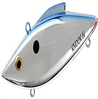 Rat-L-Trap KRT25B Knock-N-Trap Fishing Lure, 1/2-Ounce, Chrome/Blue