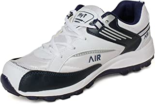 Hytech Mens Air White Blue Running Sports Shoes