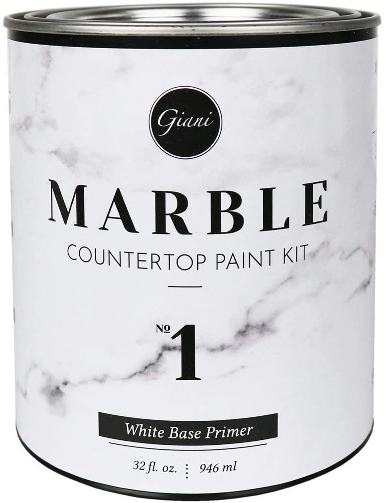 100% quality warranty Giani FG-MB WHT PRMR Marble Countertop Washington Mall 1 Step Paint White Primer