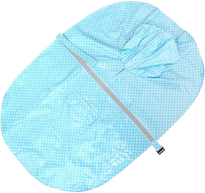 ANJUY Large Dog Rain Jacket Poncho Hoodies with Strip Reflective Adjustable Waterproof Lightweight Dot Raincoat