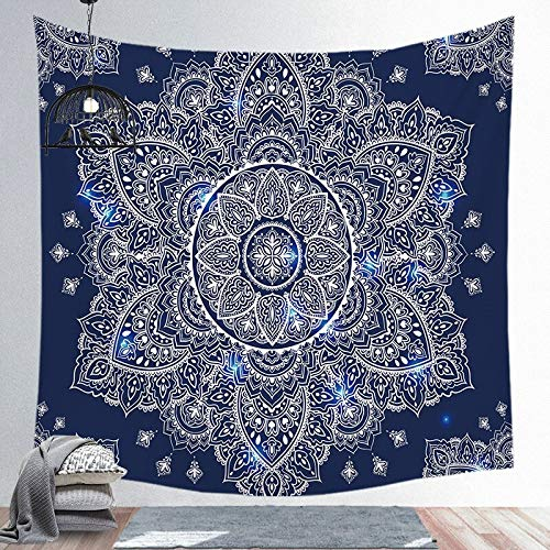PPOU Tapiz Colgante de Pared Mandala Misterio Brujería Dormitorio Sala de Estar Decoración Bohemia Poliéster Hippie Chakra Tapiz A2 150x200cm