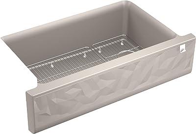 Kohler K-29825-CM3 Cairn Kitchen Sink, Matte Taupe