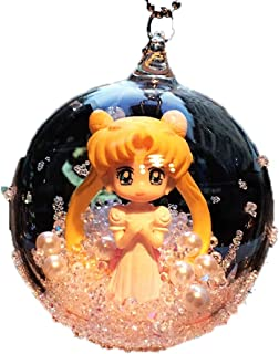 QINCCI Princess Sailor Moon Transparent Sphere Vehicle Decorative Hanging Ornaments Birthday Present