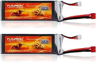 FLOUREON 3S Lipo Battery 11.1V 5500mAh 35C Lipo Batteries Pack for Buggy, Truck, Traxxas Slash, Slash 4x4, Emaxx, Bandit, Rustler Version, Stampede, Stampede 4x4, E-Maxx, Monster Jam Replicas