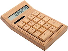 $37 » Electronics Bamboo Calculator 12 Digit LCD Display Office School Special Gift Christmas Calculate Commercial Tool Battery ...