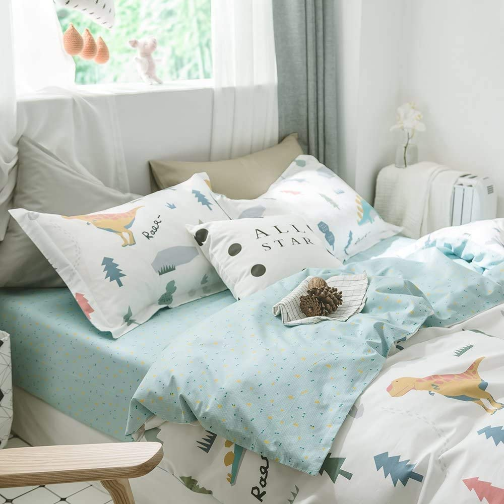 Modern Soft Cotton Fitted Trust NEW Sheet Queen for Boys Pa Geometric Kids