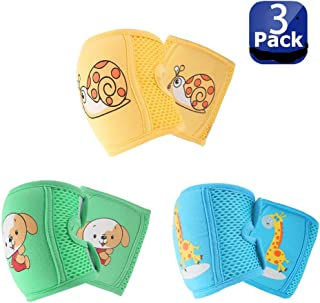 NASHRIO Baby Knee Pads for Crawling (3 Pairs), Anti-Slip and Protect Infants &..