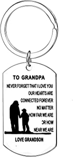 Grandpa Gifts Never Forget That I Love You No Matter How Far We Are Keychains Gifts For Grandfather