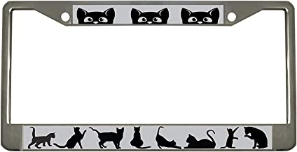 4 Holes YiiHaanBuy Keep Calm and Love Black Cats,Vanity Tag,Metal Car Plate,Aluminum Novelty License Plate for Menwomenboygirls Car,6 X 12 Inch