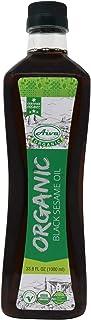 AIVA - Organic Black Sesame Oil 33.8 fl oz (1.0 L) | USDA Certified | Cold-Pressed