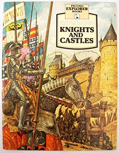 Pan Books - Libro de bolsillo para explorar caballeros y castillos, diseño vintage de 1978