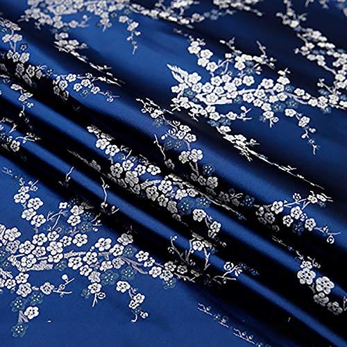 MUYUNXI Tela De Raso Forro De Tela para Vestidos De Novias Fundas Artesanías Vestidos Blusas Ropa Interior 114 Cm De Ancho Vendido por 2 Metro(Color:Azul Oscuro)