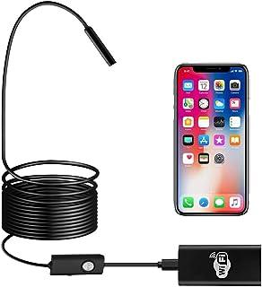 BEVA WiFi Endoskop HD720P Kabelloses Endoskopkamera Wasserdichte Inspektionskamera 2.0 Megapixel mit LED für Android und IOS Smartphone , iPhone, Windows   5M Schwarz