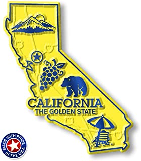 California State Map Magnet